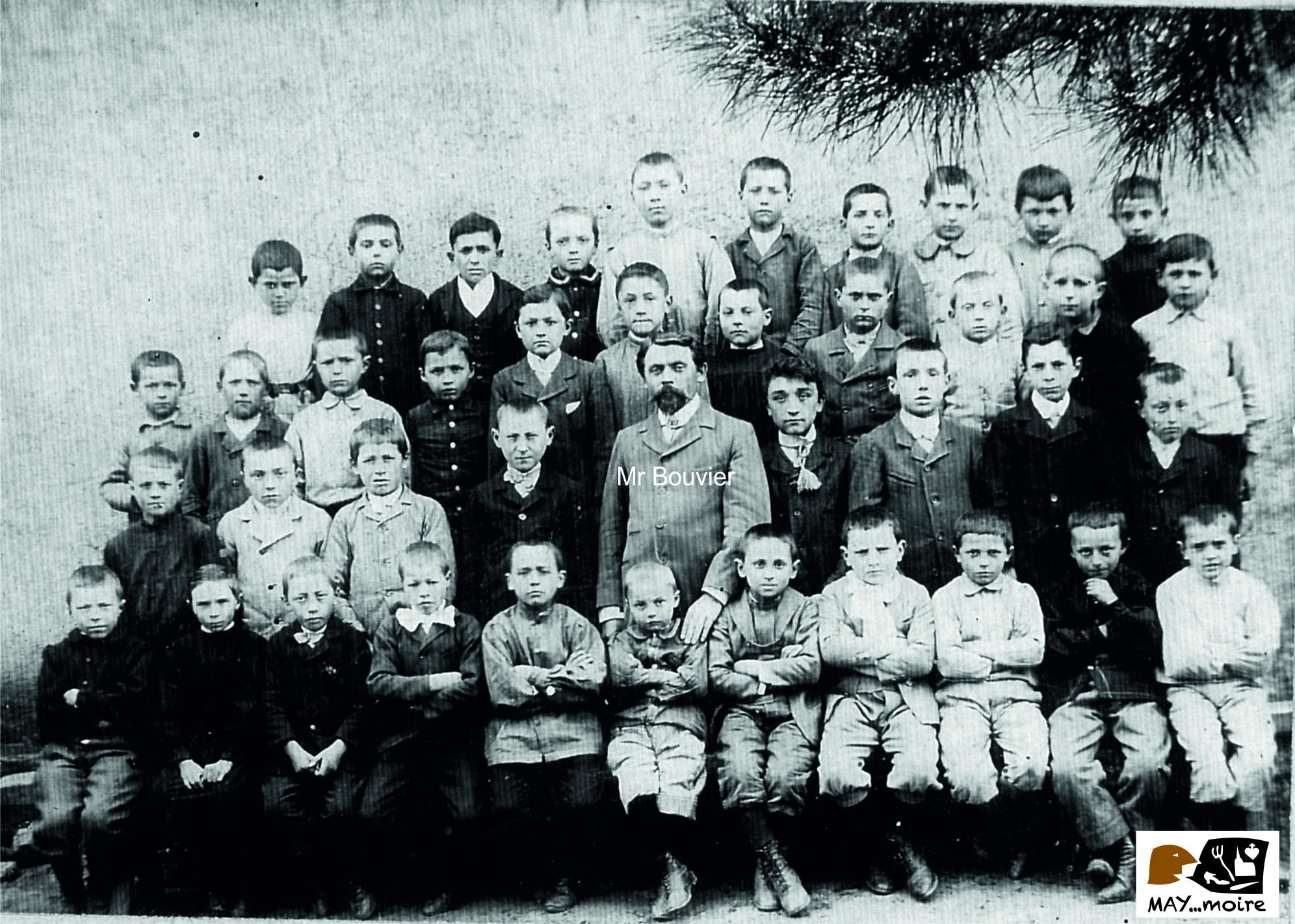 1907-1908 école communale Mr Bouvier