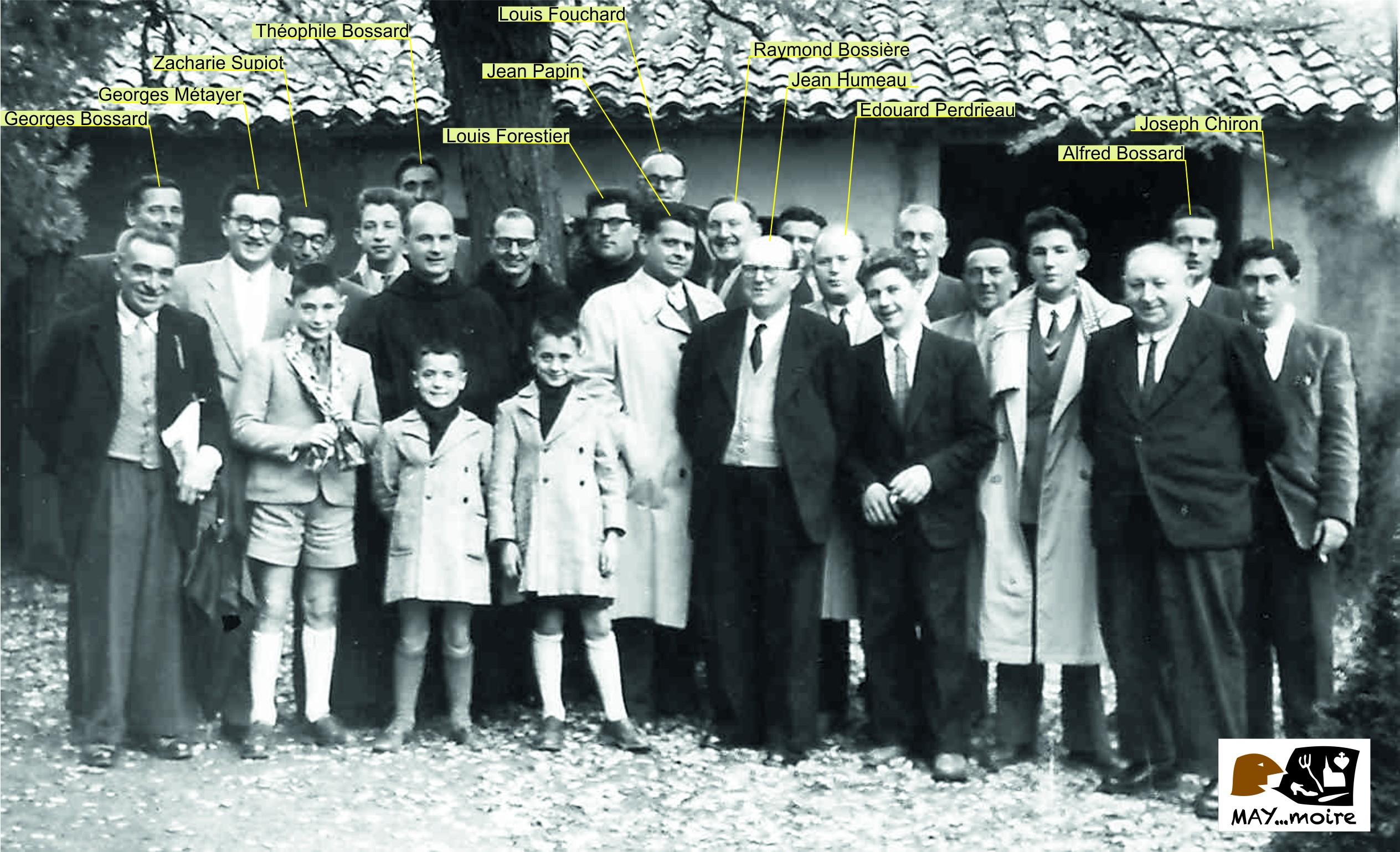 1954 chorale à Ligugé