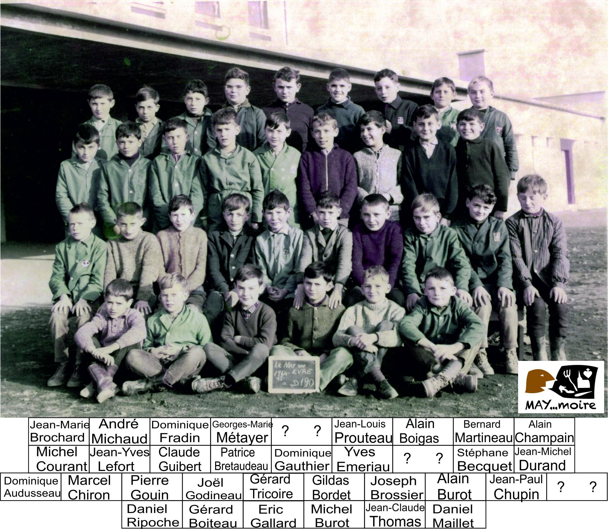 1964-65 classe joseph Courant