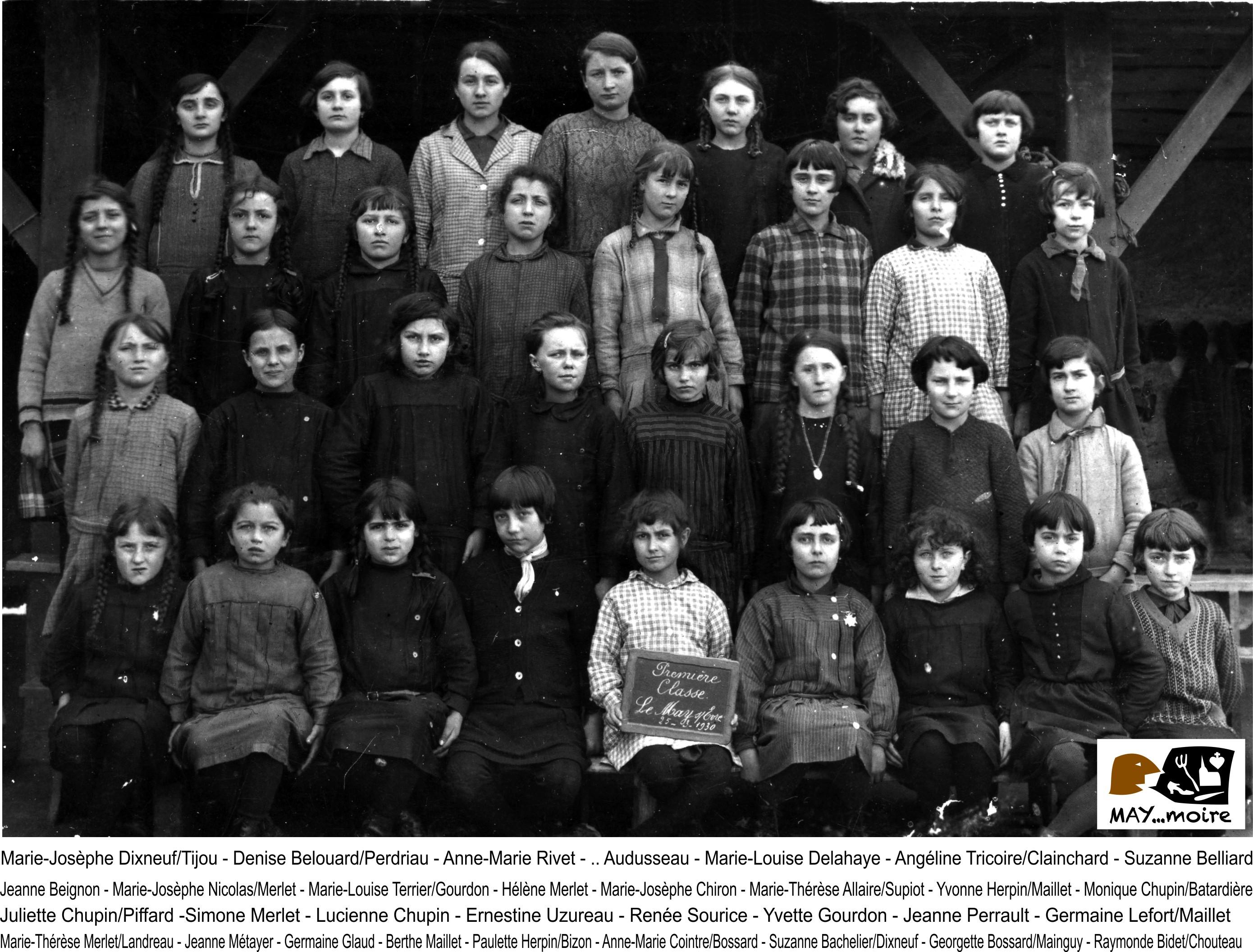 1930 1ere classe de filles