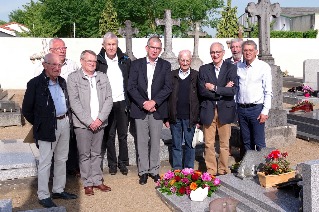 Sur la tombe de Michel Boisteau